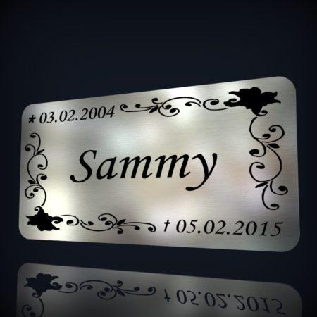Pokalschild,Gravurschild,Namenschild Aluminium mit ihrer Wunschgravur