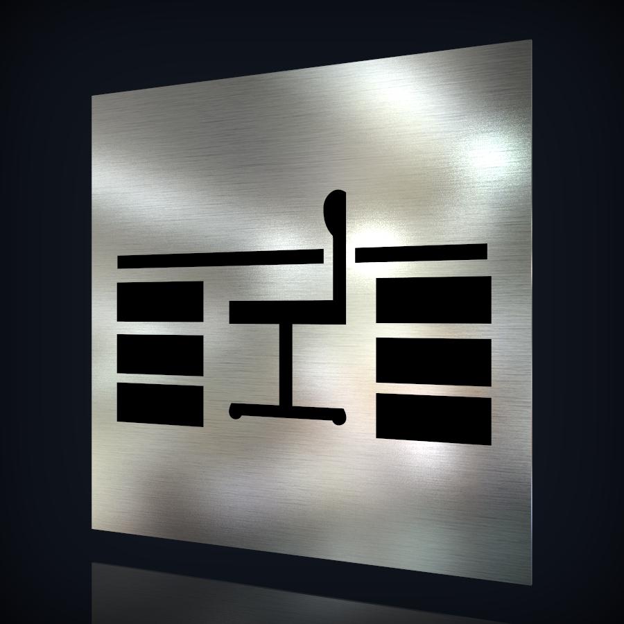 edelstahl t rschild arbeitszimmer lohner schilderwerkstatt. Black Bedroom Furniture Sets. Home Design Ideas
